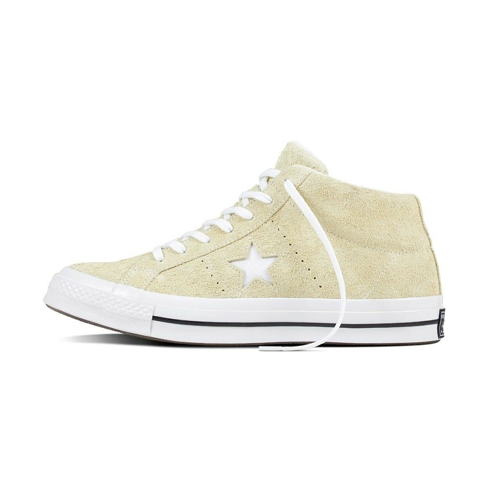 New Converse One Star Mid  159594C Vapor Lemon Suede Uomo Shoes All Sizes