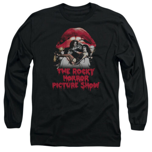 Rocky Horror Picture Show CASTING THRONE Poster Adult Long Sleeve T-Shirt S-3XL