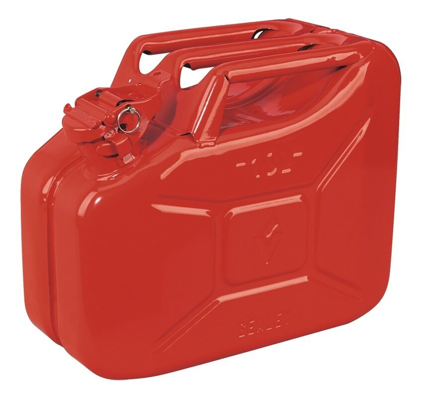 Sealey Jerry Can 10ltr - Red JC10