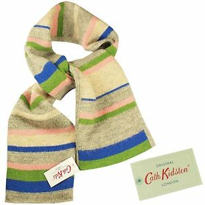 Cath-Kidston-Cath-Kids-Lambswool-Mix-Scarf-Stripe-100-authentic-BNWT