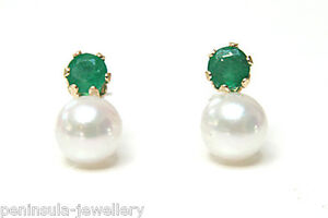 9ct Gold 5mm Rainbow Pearl Stud earrings Gift Boxed Made in UK Wedding gift