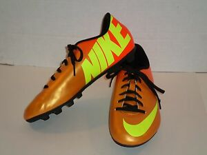 369d2e46ff6 Details about NIKE MERCURIAL VORTEX SOCCER CLEATS ORANGE YOUTH SIZE 5.5Y  NICE 573871-778