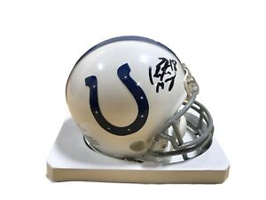 c050128854a Image is loading Peyton-Manning-Indianapolis-Colts-Signed-Mini-Helmet-JSA