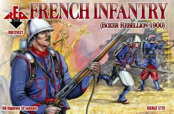 Red Box 72027 French Infantry, Boxer Rebellion 1900 Scale Plastic Model Kit 1/72
