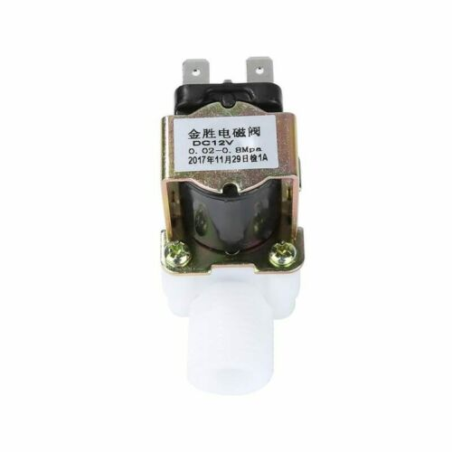 """G1//2/"""" Electric Solenoid Valve Switch 12V N//C 0.02-0.8 Mpa Water and Air #1553"""