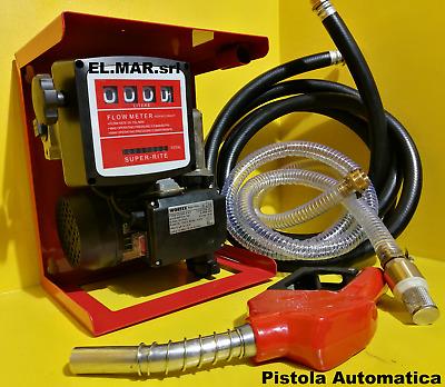 Tubi Diesel 600W contalitri Pistola FT TENORE Elettropompa Pompa Travaso Gasolio