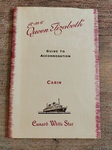 Cunard White Star RMS Queen Elizabeth Guide to Accommodation, Cabin