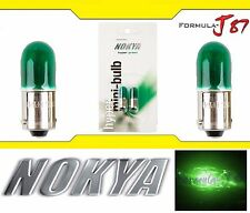 Nokya Light Bulb BA9s Green 8W Nok6422 Interior Turn Signal Corner Gauge Panel