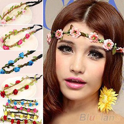 Hot Women Girls Boho Floral Flower Style Hairband Headband Festival Wedding BC8U