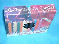 Christmas Angel Chime Candles, Black, Box Of 20, Nib, 1/2 By 4 Tall