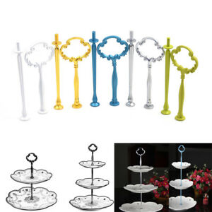 2-3-Tier-Cake-Plate-Stand-Flower-Handle-Fitting-Hardware-Rod-Plate-Wedding-Deco