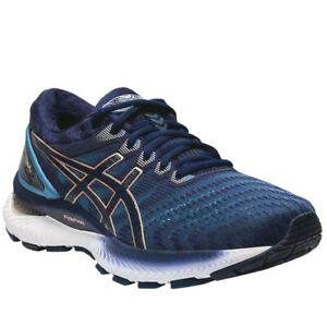 Women-039-s-ASICS-GEL-Nimbus-22-Running-Sneaker-Grey-Floss-Peacoat-10-5-D