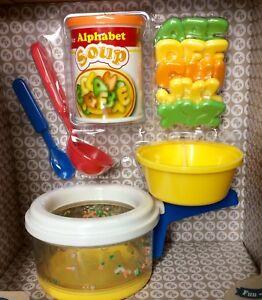 Fisher Price Play Food Simmering Soup Set Alphabet Pretend Tike Kitchen Nib Ebay