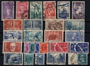 PP135340-FRANCE-STAMPS-YEARS-1929-1937-USED-SEMI-MODERN-LOT-CV-151