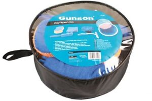 Gunson-Car-Wash-Tool-Kit-with-Folding-Bucket-Mitt-Wheel-Brush-Cloth-Cleaner