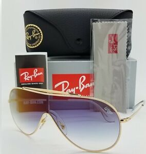 NEW-Rayban-Wings-sunglasses-RB3597-001-X0-33mm-Gold-Blue-Gradient-AUTHENTIC-3597