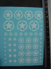 DECALS DIVERSES ETOILES BLANCHES US ARMY - T479