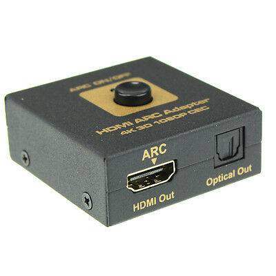 HDMI ARC Adapter to HDMI & Optical Audio Converter 4k 3D 1080P CEC Reliable