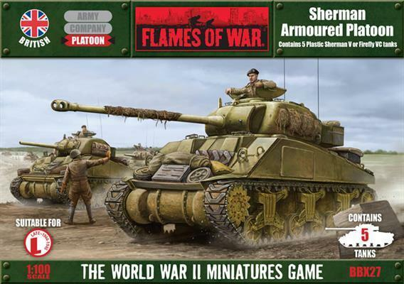 Flames of War - British  Sherman V Platoon  BBX27
