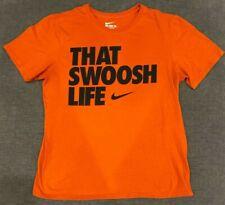 "Large, X-Large NEW Men/'s Nike /""That Swoosh Life/"" Orange//Black T-Shirt"