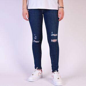 Levi-039-s-711-Skinny-distressed-blau-Damen-Jeans-24-30