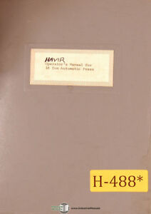 Excellent Havir 16 Ton Press Instructions Wiring Parts Manual Ebay Wiring Cloud Nuvitbieswglorg