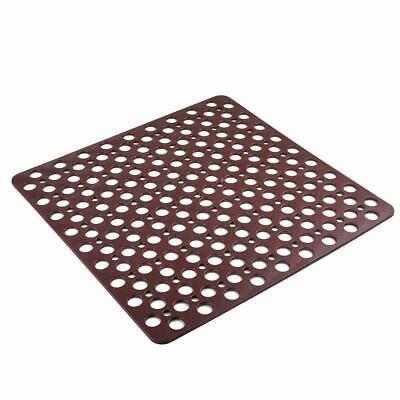 EBY52712 Shower Tub Mat-Drain Holes Grip Plastic Clear Diamond Design Bath