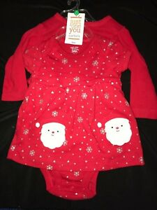 dc674150f baby girl newborn 2 PC DRESS SILVER SPARKLE SNOWFLAKES RED JACKET ...