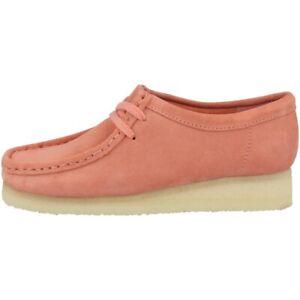 scarpe di separazione 4aa57 18be8 Dettagli su Clarks Wallabee Women Scarpe Donna Scarpe Basse con Lacci Coral  Suede 26140925