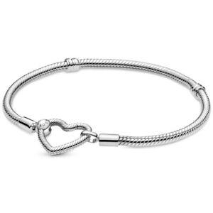 Original PANDORA® Herzverschluss Armband 599539 C00 Silber + Pandora Geschenkbox