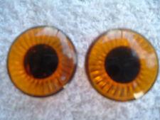 """1 Pair Orange Plastic Safety Eyes for Teddy Bear/Doll/Sfuffed Animal.  Eye is 1"""""""