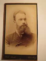 Nürnberg - Göttingen 1887 - Wilhelm Kupffer als Mann mit Bart - Portrait / CDV