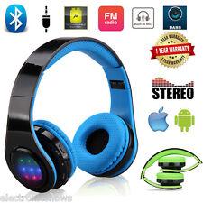 On Ear Kopfhrer Bluetooth Wireless Słuchawki Sport Stereo LED Headset FM AUX USB