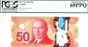 CANADA-50-DOLLARS-2012-BANK-OF-CANADA-PI-109-a-UNIQUE-LUCKY-MONEY-VALUE-6900