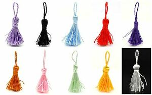 10-Mini-Tassels-Bookmark-Craft-Cardmaking-Bridal-Trims-Small-4-5cm-to-5cm
