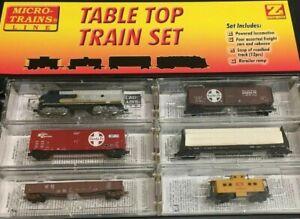 Details About Sealed Micro Trains Z Scale Santa Fe F7 Table Top Railroad Set Nib