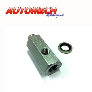 Alloy Oil Pressure T Piece 1/2 UNF to 1/8 NPT, Fits Most Rover V8 Engines (061)