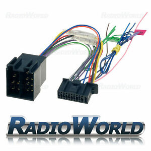 kenwood 22 pin car stereo radio iso wiring harness connector image is loading kenwood 22 pin car stereo radio iso wiring