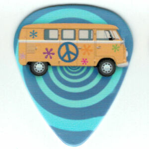 12-Pack-Bulk-PEACE-HIPPIE-VW-VAN-Medium-Pick-Bus-Type-2-Guitar-Peace-Picks