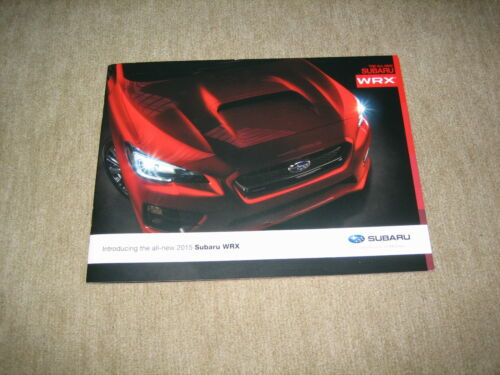 Introducing the all-new 2015 Subaru WRX USA Prospekt Brochure 16 Seiten