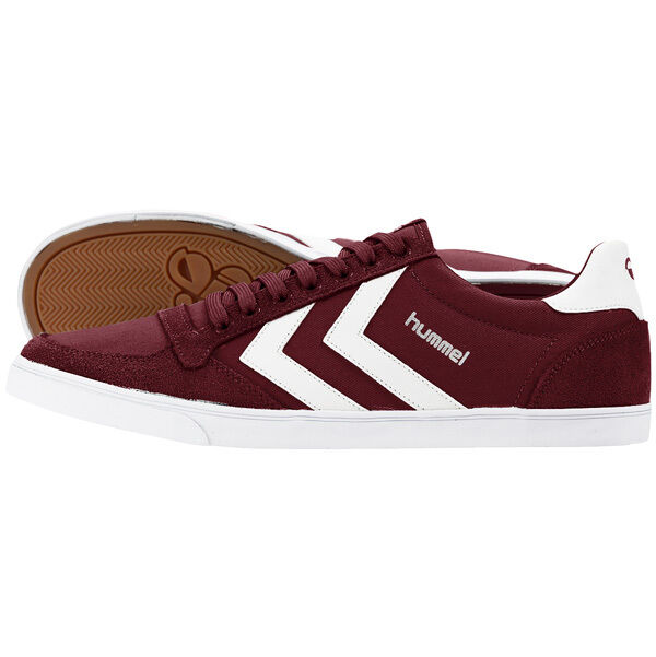 Hummel Slimmer Stadil Low Top Trainers shoes Cabernet 63-512-3661 Handball