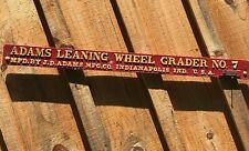 Adams Leaning Wheel Grader No7 Antique Tractor Parts Farm Advertising Cast Iron