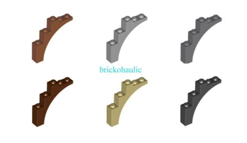Lego Brick Arch 1 x 5 x 4 Continuous Bow Parts Pieces Lot ALL COLORS