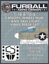 Furball Aero-Design 1/48 Vought A-7D/E Corsair Canopy, Wheel Hub & Taxi Light Ma