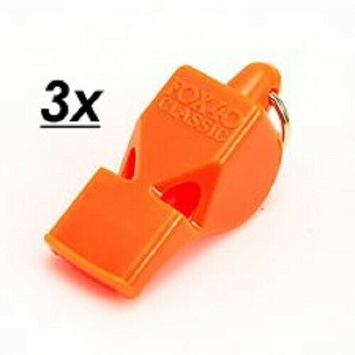 115dB 3 PACK = $3.98 per Fox 40 Classic Whistle MARINE SAFETY MIX
