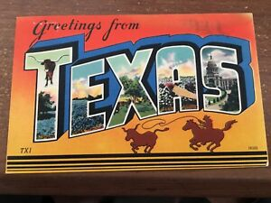Large letter postcard greetings from texas tx pc ebay image is loading large letter postcard greetings from texas tx pc m4hsunfo
