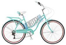 New Schwinn S5477C Women Perla 7 Speed Cruiser Bicycle 26 Inch wheels Blue/Green
