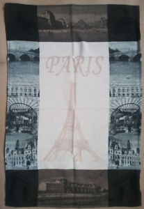 Set Of 3 French Cotton Jacquard Kitchen Towels St Roch Lot 1023