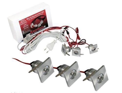 LED Spot Strahler Mini Einbaustrahler IP44 ww Innen /& Aussen Deckenspots