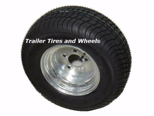 Trailer Tire On Rim 205//65-10 20.5X8.0-10 205-65 LRE 5 Hole Lug Galvanized Kenda